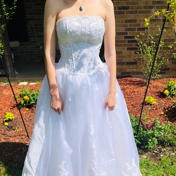 Mary's Bridal Dresses & Skirts - Beaded white prom dress